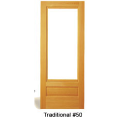 Traditional #50 One Lite Storm Door with Sash and Screen